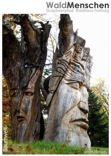 die Baumwelt, Skulpturenweg WaldMenschen, Freiburg, thomas rees