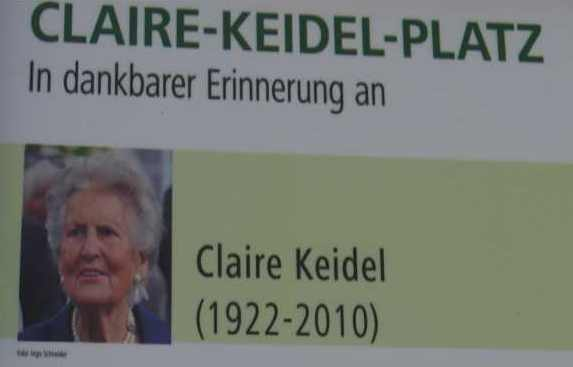 Schild, Claire-Keidel-Platz