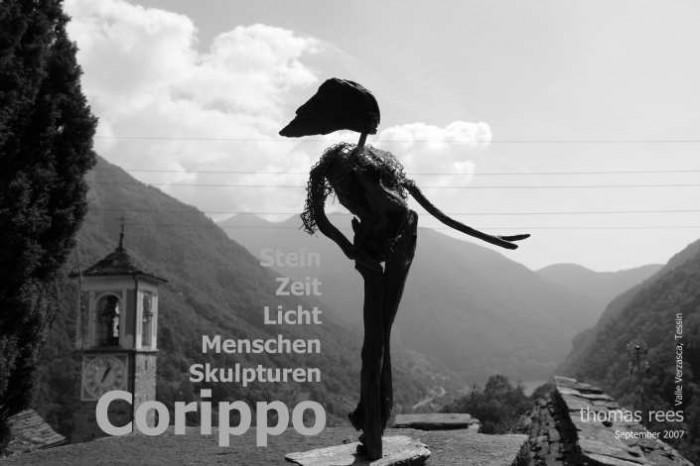 Corippo-Tessin 2007, Stein-Zeit-Licht-Menschen-Skulpturen, thomas rees