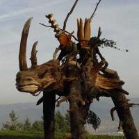 das Nashorn und die Drei Könige, Weihnachten 2006, am Pfeiferberg