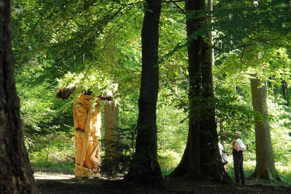 Sägemännle -Egweiser, Freiburg-Littenweiler, Barbarawald, thomas rees