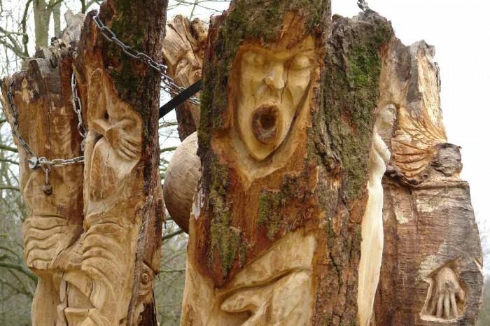 die Baumwelt, Skulpturenpfad WaldMenschen, Waldhaus Freiburg, thomas rees