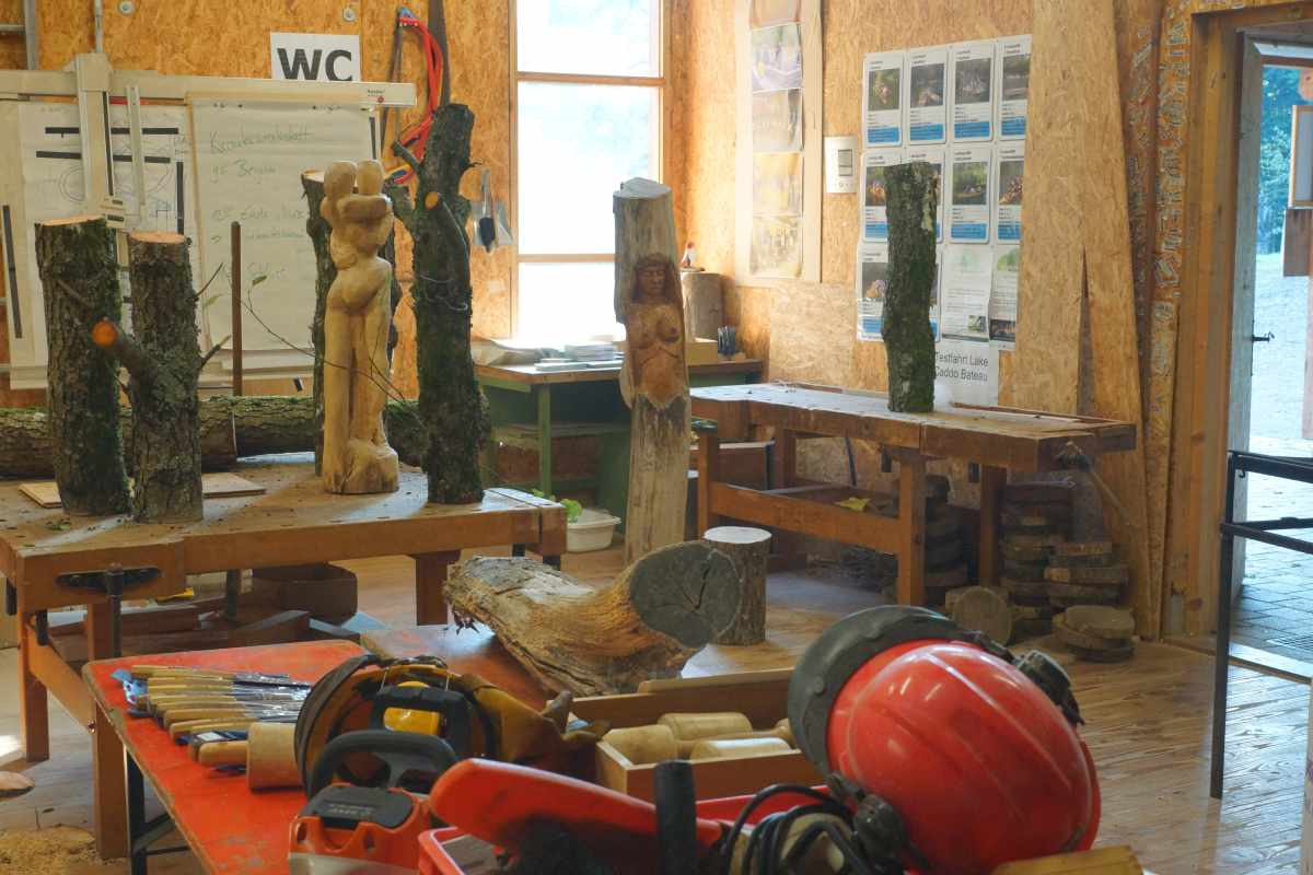 Bildhauerkurs im September 2016 am Waldhaus, thomas rees 07
